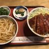 まるきや - 料理写真:カツ丼 + かけ小うどん