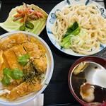 肉汁うどん青柳 - 料理写真:カツ丼にセットうどん