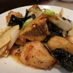 北京遊膳 - 真ダイの辛子炒め