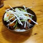 博多一舞 - 半熟味玉サイコロ丼(350円)