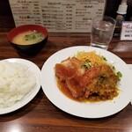 Kicchinchekku - 豚ロース&チキンカツランチ。