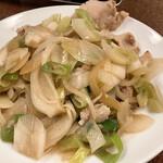 141994158 - 孤独のグルメで五郎さんが食べたネギ肉イタメ650円