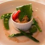 イル・ド・ソレイユ - カニ肉の前菜
