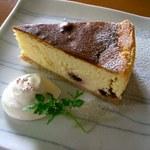 茂庵 - ダークチェリーのチーズケーキ(季節もの)