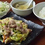 中国料理&タイ料理 チャイハナ - 豚野菜定食