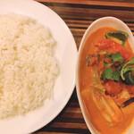 ヤミツキカリー - ランチ 太陽の恵みの野菜カレー(大辛)¥750税込