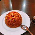 ネパール・インド料理 ゴルカ - チキンビリヤニ。辛い。