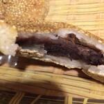 庄稼院 - 焼餅の中身。あんこ入りのお菓子系料理