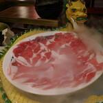 火鍋専門店蜀大侠 - 2020.12 羊肉のスライス