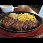 肉バル ジラソーレ - ランチ!牛ハラミカットステーキ