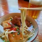 ぱいぱいのむら - 中太麺