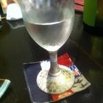 稲水器 あまてらす - 日本酒半合はグラス