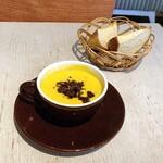 Natural kitchen yoomi - かぼちゃのポタージュ パン