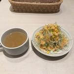 洋食レストラン ロッキー - スープ、サラダ付き