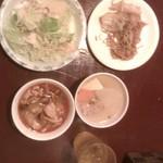 ナムプリック - ランチバイキング サラダ 焼きそば スープ2種