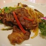 中華料理 彩香 - ショートリブの黒胡椒炒め