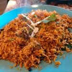 RADIKA - 料理写真:インド米マトンビリヤーニランチ890円税込、スープ、ライタ(ビリヤー二用ヨーグルトソース)、サラダ、ドリンク付き