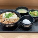 伝説のすた丼屋 - 料理写真:・ミニとろすた丼 780円/税抜 ・ねぎ盛り小鉢 150円/税抜
