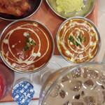 ダナパニ - 料理写真:カレー2種