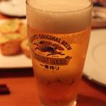 DEPART BR - 美味しいものを食べるとビールもススミます。