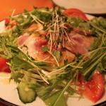 DEPART BR - 自家製ロースハムのサラダ。ロースハム美味しい!このあとロースハムを追加しました(笑)