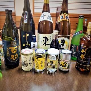 自慢のうなぎや釜めしのお供に、店主選りすぐりの日本酒を
