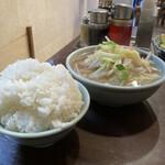 Nagasakisaikan - ご飯小と、付け合わせのスープ