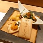 Ebisusushishiorianyamashiro - 前菜三種盛合せ