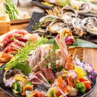 まさに至福のひと時...漁港直送の新鮮魚介で季節の宴会を!