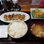 餃子バル 餃子の花里 - 焼餃子ランチ 6個