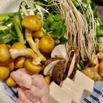河内鴨料理 田ぶち - 鍋、野菜