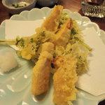1421481 - 春メニューのタケノコと菜の花の天麩羅、美味!