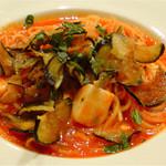 トラットリア ガヴェ - あげ茄子とモッツアレラチーズのパスタ