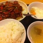 杜記 海鮮火鍋菜館 - 牛モツ煮の四川風冷製スライス(夫妻肺片)定食