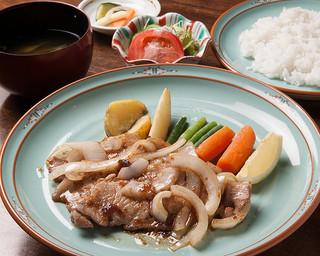 浪漫風 - ディナーセット「豚ロース肉の生姜焼き」