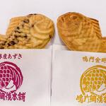 鳴門鯛焼本舗 - 料理写真:十勝産あずき(外税200円)、鳴門金時いも(外税220円)