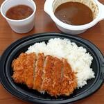 かつたに - 上かつカレー弁当  ( ご飯大盛 ) & 豚汁 小