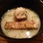 142115496 - 白甘鯛の焼き物と海老芋