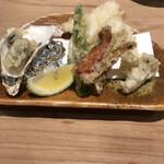 かなわ - 牡蠣と河豚の天ぷら