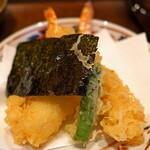 京うどん 生蕎麦 岡北 - 天ぷらそばの天ぷら