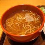 京うどん 生蕎麦 岡北 - 天ぷらそばのお蕎麦