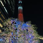 142127230 - ☆東京スカイツリーのライトアップ。真下から見ると高くて大きい。