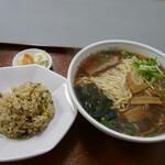 ヒマラヤラーメン - 高菜チャーハンセット大盛り900円