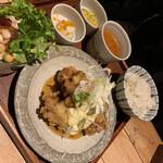 cafe double - 揚げ鳥の南蛮風唐揚げ1400円