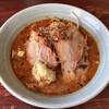Rirakushin - 料理写真:辛味噌ラーメン少なめ(150g)太麺ニンニク増野菜少脂増こってりで 750円