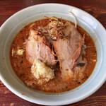 りらくしん - 料理写真:辛味噌ラーメン少なめ(150g)太麺ニンニク増野菜少脂増こってりで 750円