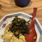 Zundouya - 高菜をのせると、さらに美味しい