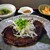 日本酒処 地花 - たらと魚貝のハンバーグ