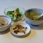 台湾料理故宮 - 17回目8/7 ランチの前菜
