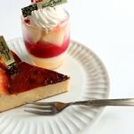 ニココペッシュ - 料理写真:ばすくちーずけーき♪